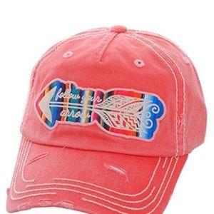 Kbethos Follow Your Arrow Distressed Ball Cap